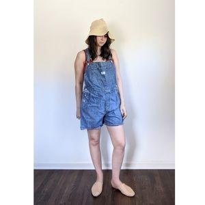 LEVIS Classic Boho Blue Denim Shorts Overalls L
